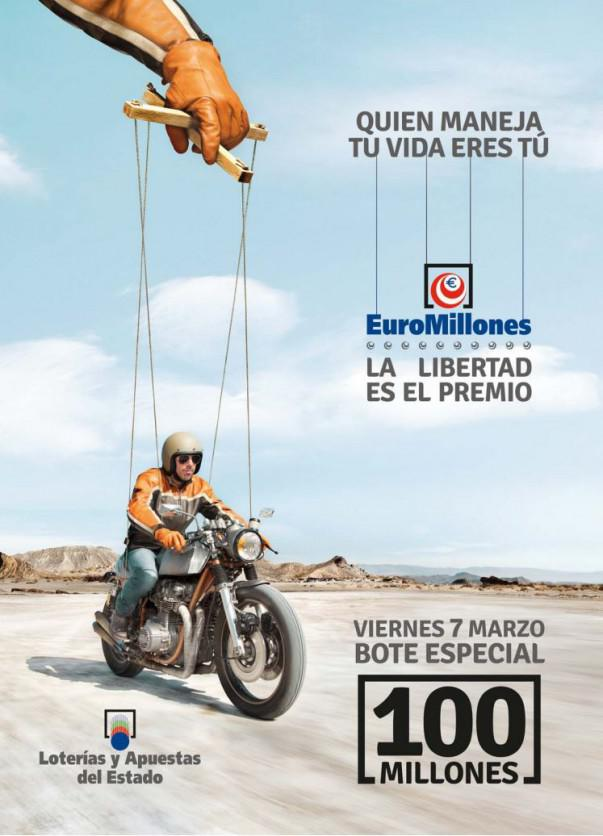 Cartel del bote especial de 100 Euromillones | Foto: cartel LAE