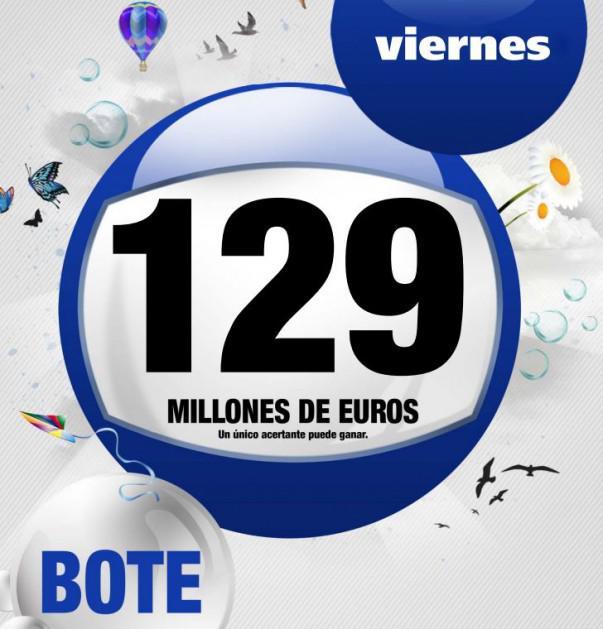 Bote del viernes 14 de marzo: 129 millones de euros | Foto: cartel LAE