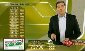 Cuponazo de 9.000.000 de Euros al número 73738 | Foto: RTVE