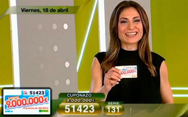 Cuponazo de 9.000.000 de Euros al número 51423 | Foto: RTVE