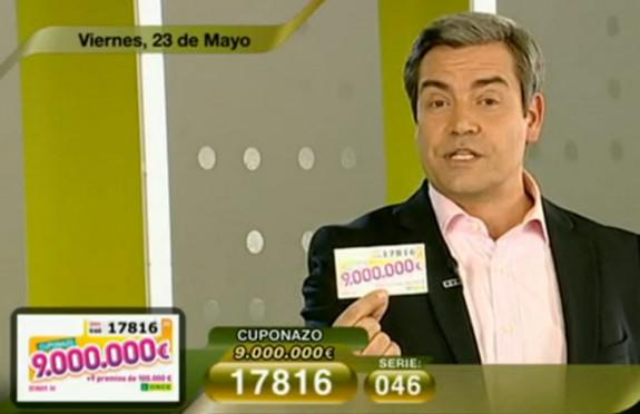 Cuponazo de 9.000.000 de Euros al número 17816 | Foto: RTVE