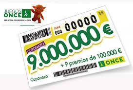 Cuponazo de 9.000.000 de Euros   Foto: Juegos ONCE