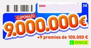 Cuponazo de 9.000.000 de Euros | Foto: Juegos ONCE