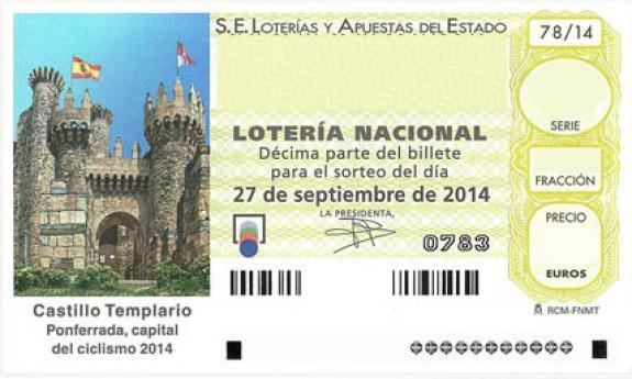 décimo de Lotería Nacional