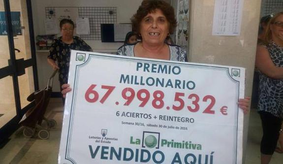 Agraciada en el sorteo de La Primitiva | Foto: Castilla la Mancha Televisión
