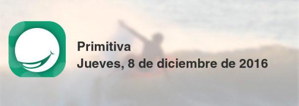 Primitiva del jueves, 8 de diciembre de 2016