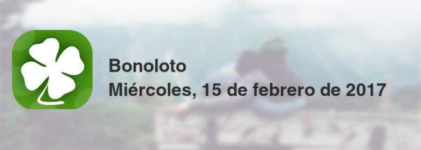 Bonoloto del miércoles, 15 de febrero de 2017