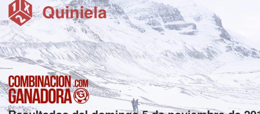 Quiniela del domingo 5 de noviembre de 2017