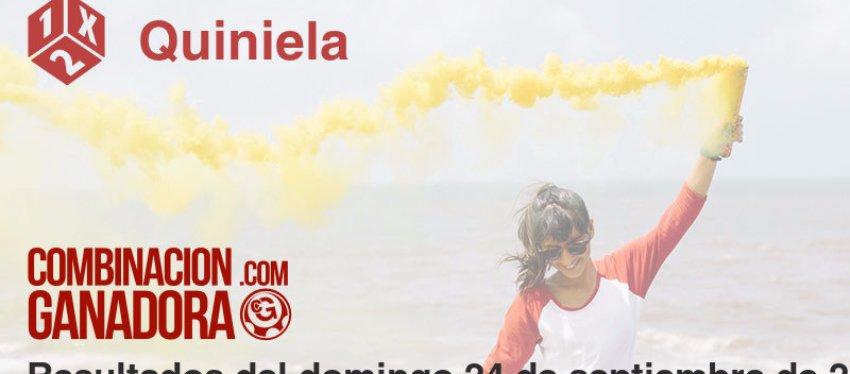 Quiniela del domingo 24 de septiembre de 2017