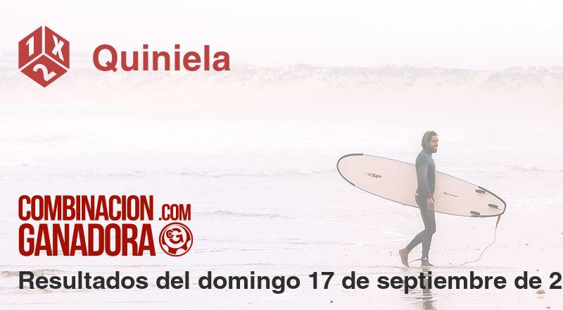 Quiniela del domingo 17 de septiembre de 2017