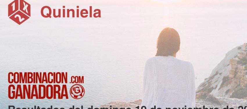 Quiniela del domingo 19 de noviembre de 2017