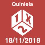 Quiniela del domingo 18 de noviembre de 2018