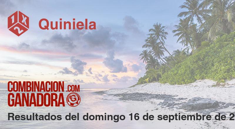Quiniela del domingo 16 de septiembre de 2018