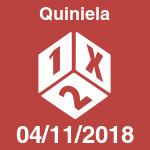 Quiniela del domingo 4 de noviembre de 2018