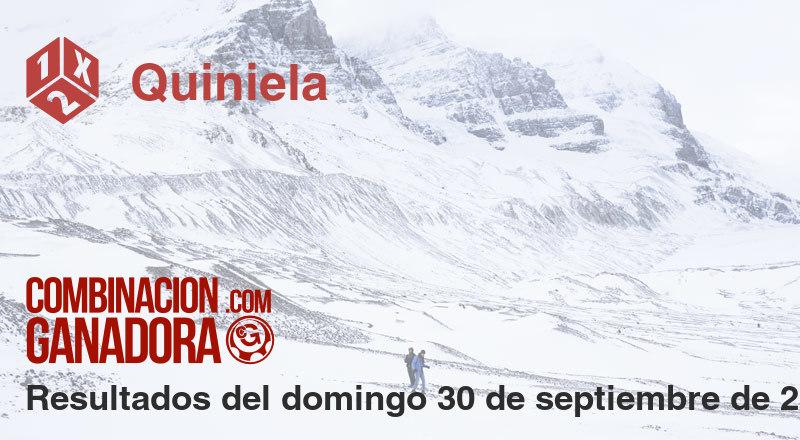 Quiniela del domingo 30 de septiembre de 2018