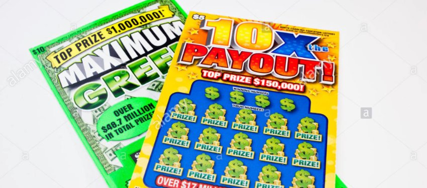 Los famosos rasca y gana de la lotería americana. Foto: alamy.