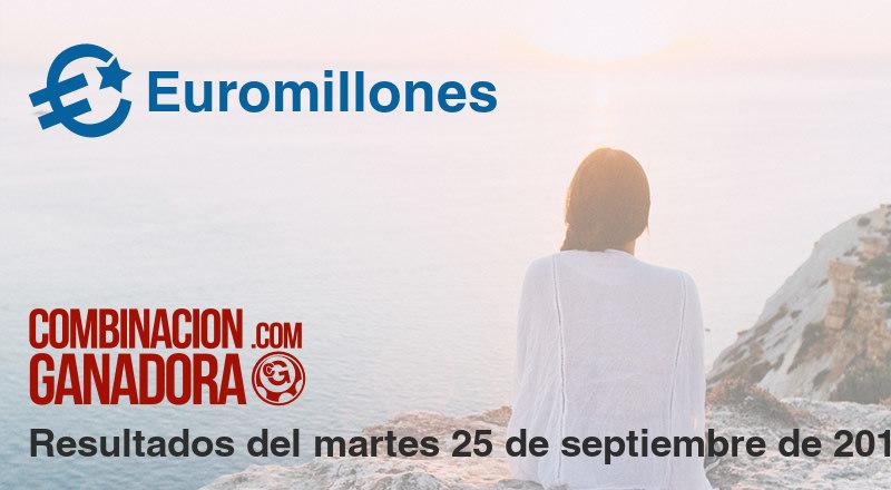 Euromillones del martes 25 de septiembre de 2018