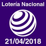 Lotería Nacional del sábado 21 de abril de 2018
