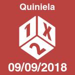 Quiniela del domingo 9 de septiembre de 2018
