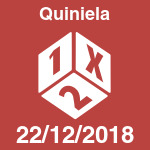 Quiniela del sábado 22 de diciembre de 2018