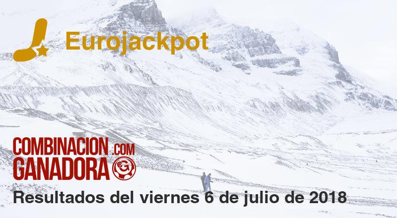 Eurojackpot del viernes 6 de julio de 2018