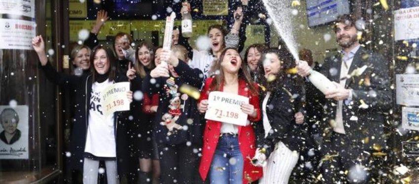 Celebración de la Lotería de Navidad. Foto: Lasprovincias