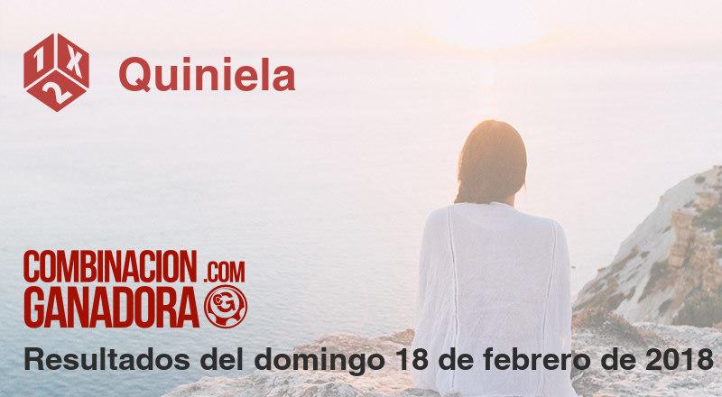 Quiniela del domingo 18 de febrero de 2018