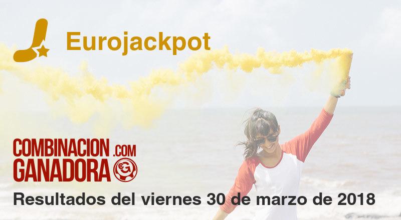 Eurojackpot del viernes 30 de marzo de 2018