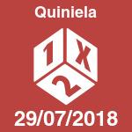 Quiniela del domingo 29 de julio de 2018