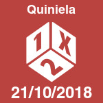 Resultados de la jornada de Quiniela del domingo 21 de octubre de 2018