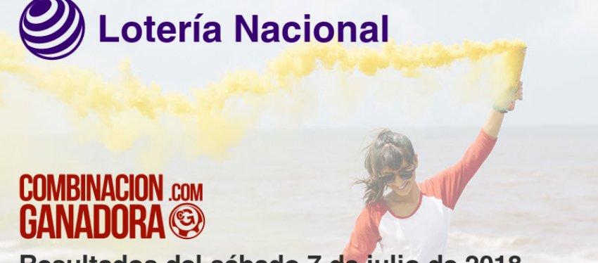 Lotería Nacional del sábado 7 de julio de 2018