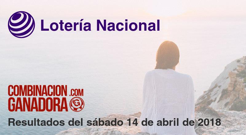 Lotería Nacional del sábado 14 de abril de 2018