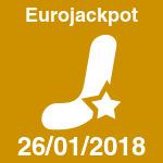 Eurojackpot del viernes 26 de enero de 2018