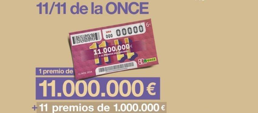El 11 del 11 de la ONCE repartirá 11 millones de euros