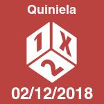 Quiniela del domingo 2 de diciembre de 2018