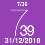 Resultado de 7/39 del lunes 31 de diciembre de 2018