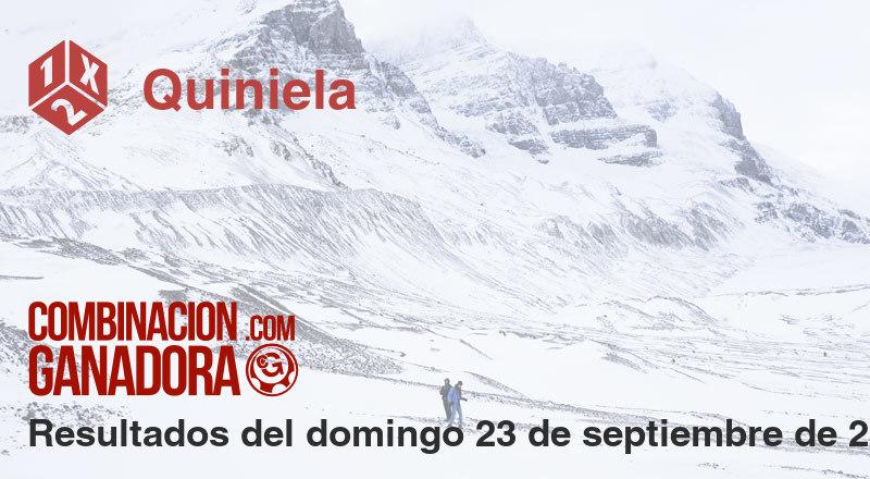 Quiniela del domingo 23 de septiembre de 2018