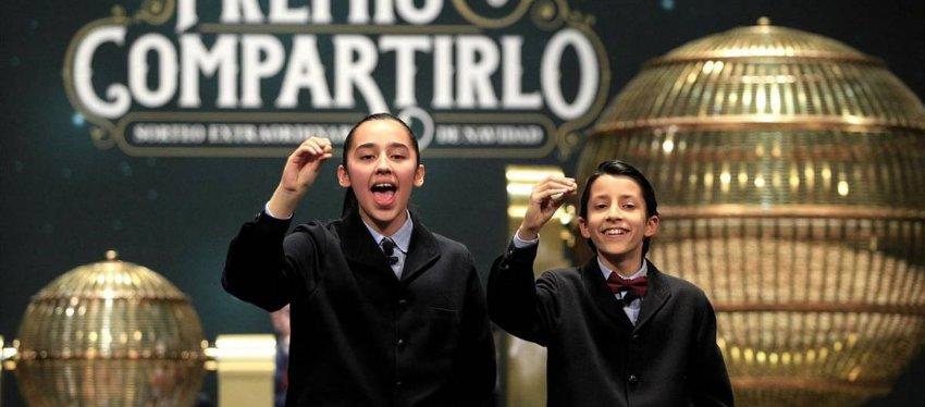 Los niños de San Ildefonso. Foto: As.