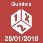 Quiniela del domingo 28 de enero de 2018