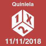 Quiniela del domingo 11 de noviembre de 2018