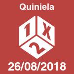 Quiniela del domingo 26 de agosto de 2018