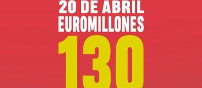 130 millones de euros en Euromillones el próximo 20 de abril