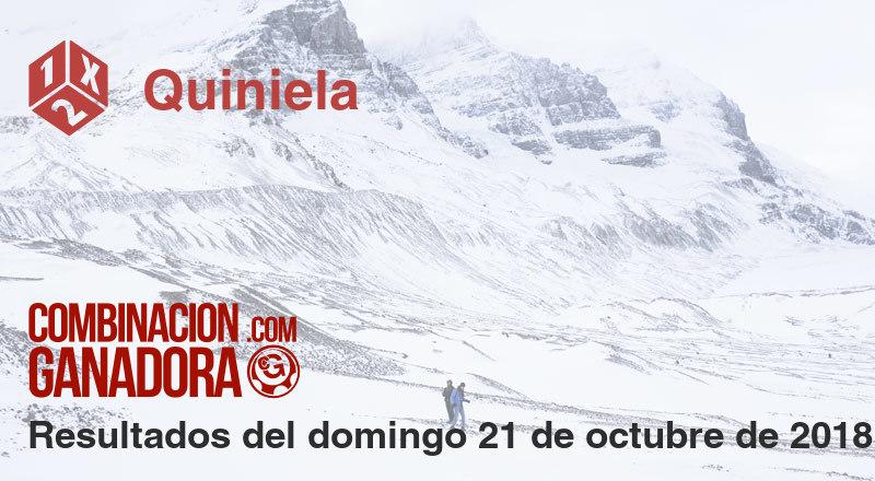 Quiniela del domingo 21 de octubre de 2018