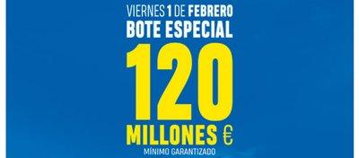 El próximo viernes Euromillones repartirá 120 millones en un sorteo especial