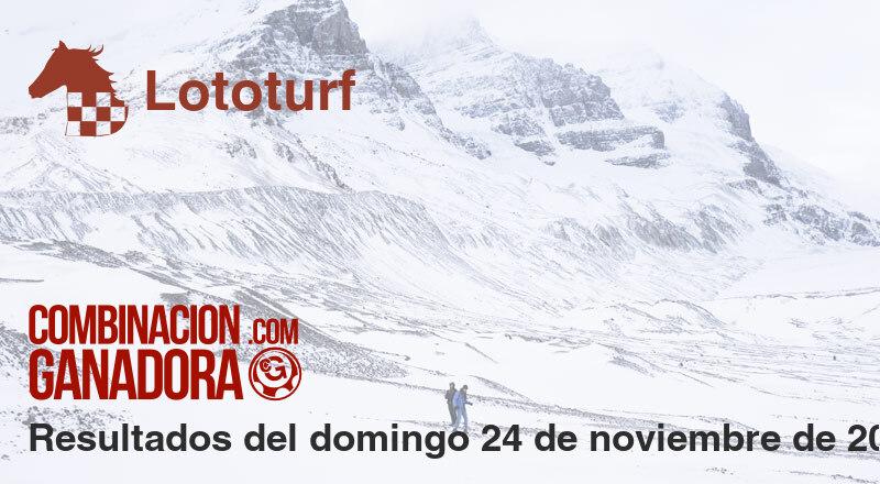Lototurf del domingo 24 de noviembre de 2019