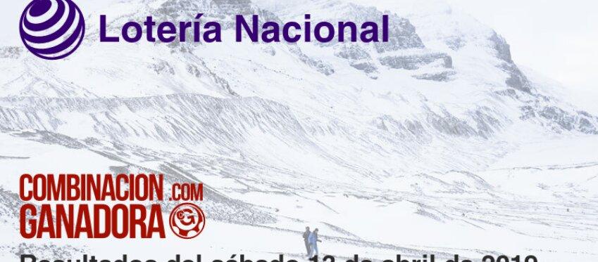 Lotería Nacional del sábado 13 de abril de 2019