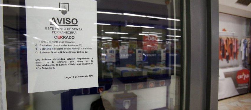 Aviso de la administración de lotería. Foto: El Progreso.