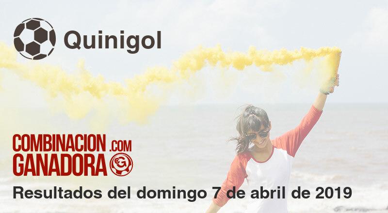Quinigol del domingo 7 de abril de 2019