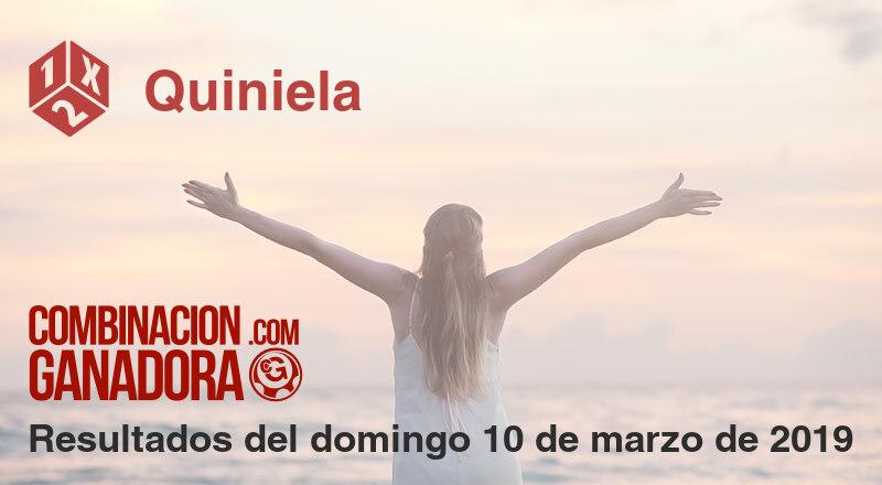 Quiniela del domingo 10 de marzo de 2019