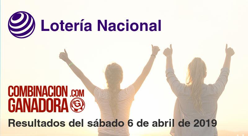 Lotería Nacional del sábado 6 de abril de 2019